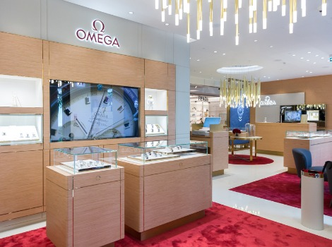 Opening of Omega watch store in Saint Petersburg